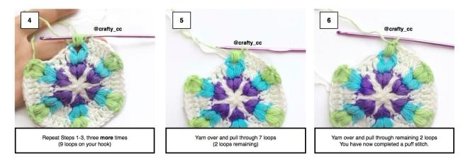 Puff stitch 4-6