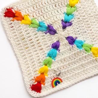 Rainbow Puff Square